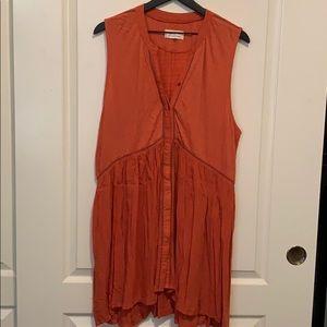 By Anthropologie orange tunic size xl